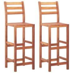 shumee Barové židle 2 ks masivní akáciové dřevo
