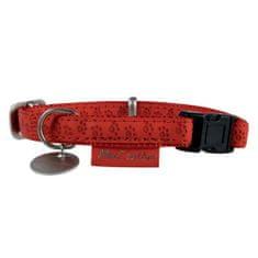 Zolux MAX LEATHER Nyakörv bőrből piros 35cm/20mm