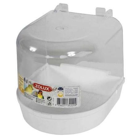 Zolux Madárfürdő fehér aljal 135x135x135mm