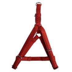 Zolux MAX LEATHER Postroj kožený červený 38x54cm/15mm pre psa od 5kg-10kg