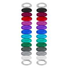 Vinturi Rozpoznavacie gumičky na poháre 24ks