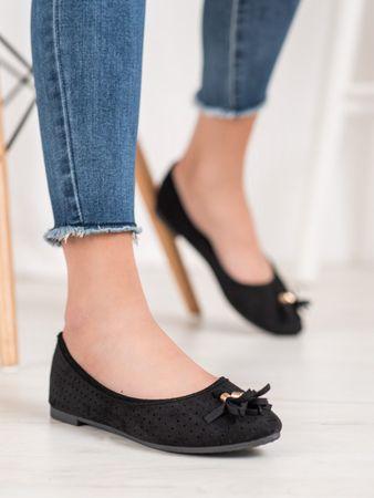 Vinceza Női balerina cipő 65884, fekete, 39
