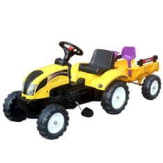 Denis traktor s prikolico, na pedala, 123 x 42 x 51 cm