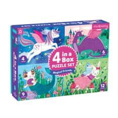 Mudpuppy Puzzle 4 v 1 - Priatelia / 4 in a Box - Magical Friends