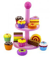 Viga Fa játék sütemények tortaállvánnyal