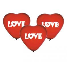 "GoDan Latexové balóny ""Srdcia"" s nápisom LOVE - 5ks"