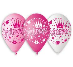 """Gemar Latexové balóny """"Princess"""" ružová - na hélium - 5ks"""