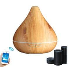 """GOLDSUN Aroma diffúzor """"Cone 300ml"""" frissítő és párásító SMART - Könnyű fa"""