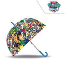 Dáždnik Paw Patrol transparentný v tvare zvonu