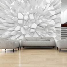 Murando DeLuxe 3D Rostoucí bílé krystaly Rozměry (š x v) a Typ: 350x245 cm - vliesové