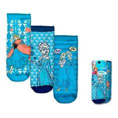 """EUROSWAN Dievčenské členkové ponožky """"Frozen"""" - 3ks v balení"""