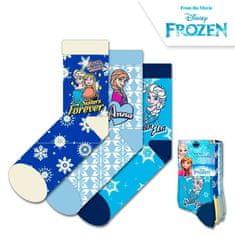 """EUROSWAN Dievčenské vysoké ponožky """"Frozen"""" - 3ks v balení tyrykosvá"""