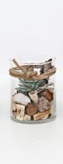 Sifcon Dekoratívny sukulent v skle, 13 × 10 cm