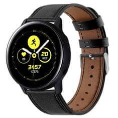BStrap Samsung Galaxy Watch Active 2 40mm Leather Italy řemínek, Black