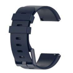 BStrap Fitbit Versa / Versa 2 Silicone (Large) řemínek, Dark Blue