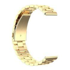 BStrap Huawei Watch GT/GT2 46mm Stainless Steel řemínek, Gold