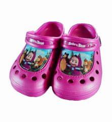 """SETINO Dievčenské sandále """"Máša a medveď"""" - tmavo ružová"""