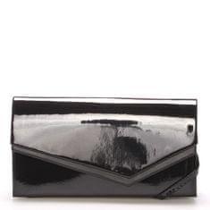 Delami Elegantná dámska listová kabelka Mirnas, čierna lesklá