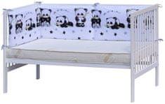 Scarlett Mantinel do postýlky 4dílný - Scarlett Panda - 210 x 40 cm - bílá
