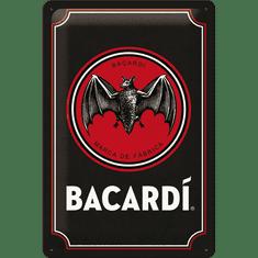 Postershop metalni znak Bacardi (Black Logo), 20x30 cm