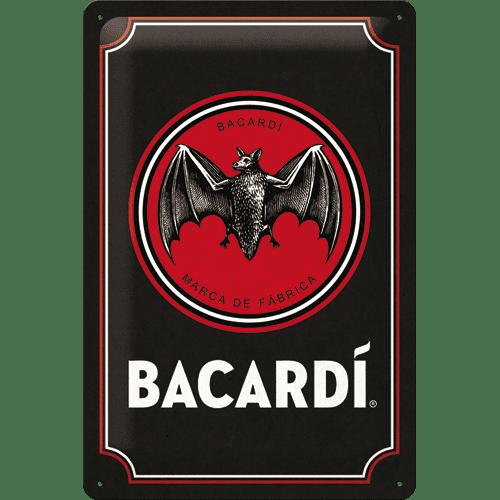 Postershop Plechová cedule: Bacardi (Black Logo) - 20x30 cm