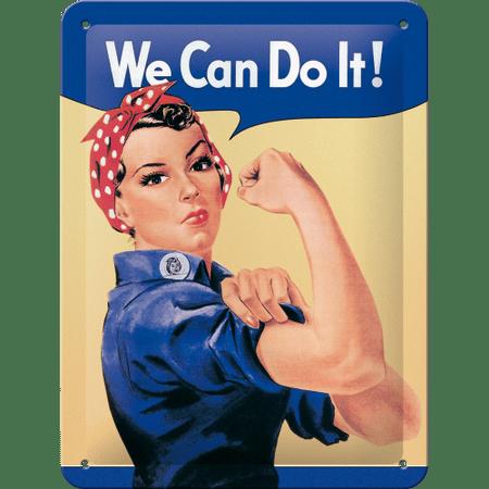 Postershop tabliczka metalowa: We Can Do It! - 20x15 cm