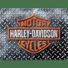Postershop metalni znak Harley-Davidson (Diamond Plate), 20x15 cm