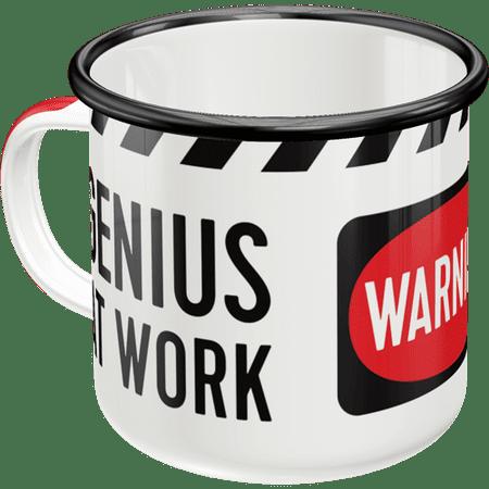 Postershop kovinska skodelica Genius at Work