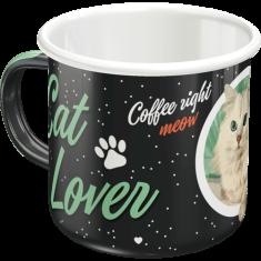 Postershop Plechový hrnek - Cat Lover (Black)
