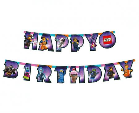 """GoDan Banner """"Lego Movie 2"""" - Happy Birthday, 163x13 cm"""