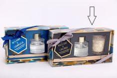 Sifcon Darčeková súprava GEOMETRIC - 30 ml difuzér, 2 × vonná sviečka, BLACK OUD & GINGERLILY