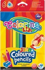 Colorino Pastelky trojhranné JUMBO 6 barev + ořezávátko