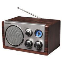Roadstar Drevené rádio Roadstar, HRA-1245WD, 28 W, FM/MW