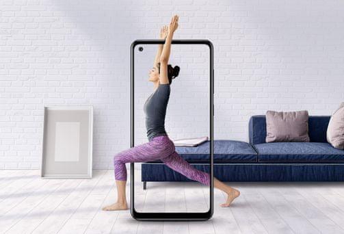 Samsung Galaxy A21s, velký displej, HD+