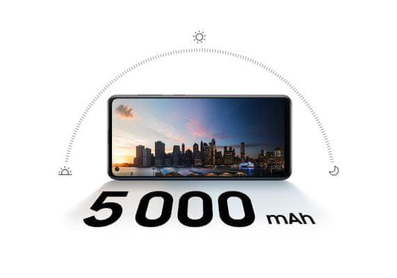 Samsung Galaxy A21s, rychlé nabíjení, velká kapacita baterie, dlouhá výdrž, výkon