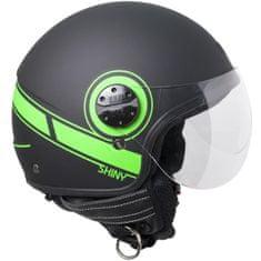CGM Otevřená přilba moto SHINY– zelená