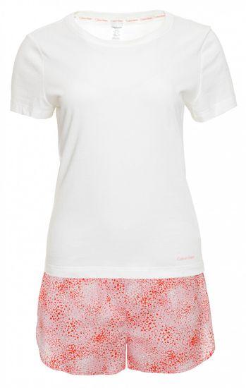 Calvin Klein dámské pyžamo QS6479E S/S Short Set S bílá