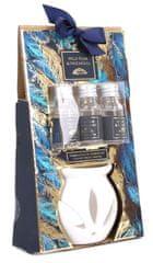 """Sifcon Dárkový set """"PEŘÍČKA"""" - aromalampa + 3 ks vonných olejíčků WILD PEAR & PATCHOULI"""