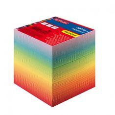 Herlitz papirna kocka, 9 x 9 x 9 cm, 800-listna, mavrična
