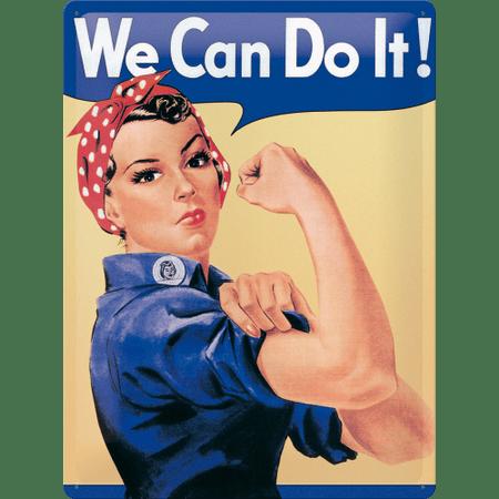 Postershop kovinski znak We Can Do It! A, 40 x 30 cm
