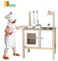 Viga Dřevěná kuchyňka bílá