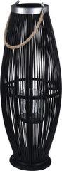 Koopman Lucerna na sviečku 72 cm, bambus čierna