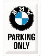 Postershop metalni znak BMW Parking Only, 30 × 20 cm, bijeli
