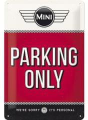 Postershop Metalowy znak – Mini Cooper Parking Only
