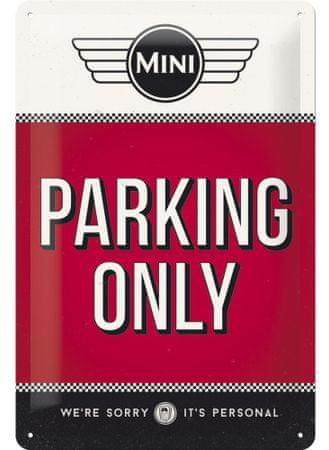 Postershop Fémtábla - Mini Cooper Parking Only
