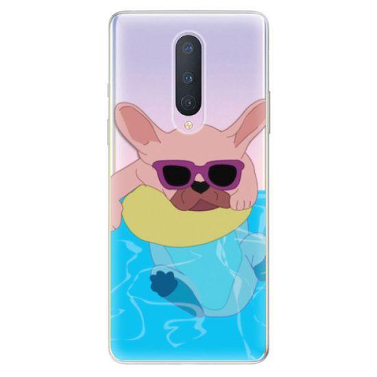 iSaprio Silikónové puzdro - Swimming Dog pre OnePlus 8