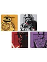 Star Wars tányérok - BB-8, Stormtrooper, Kylo Ren és Phasma (4 db-os készlet)