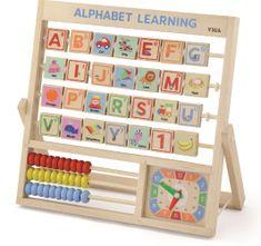Viga lesena abeceda in ura