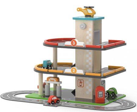 Viga Fából készült garázs és benzinkút