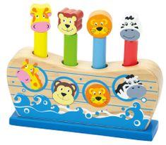 Viga Noetova barka lesena igra